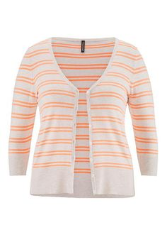 the classic plus size cardi with double stripes (original price, $39) available at #Maurices