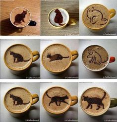 Coffee Cats.. Making that first cup an extra special treat.