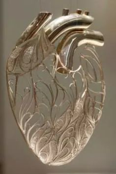 Heart of Gold! glass heart embellished in gold. Golden Heart, Heart Of Gold, Heart Art, My Heart, Painting & Drawing, Donia, Anatomical Heart, Heart Images, Human Heart