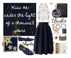 """""""starlight"""" by giorgia-zl ❤ liked on Polyvore featuring Topshop, Estée Lauder, Edie Parker, Chicwish, Évocateur, Essie, WYS, Cultural Intrigue, Thos. Baker and under50"""
