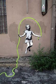 "banksy I LOVE this guys ""work"".  Great movie about him called ""Exit Through the Gift Shop"" ~ a must see!"