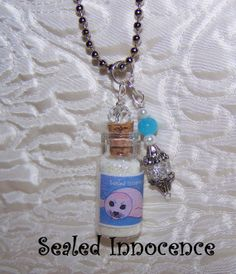Bottle Vial Pendant Charm Necklace. Sealed by MariesImagination, $10.99