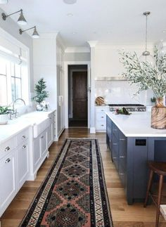 Modern Kitchen Interior Remodeling Tartan Builder's kitchen - Park and Oak Interior Design - New Kitchen, Kitchen Decor, Kitchen Grey, Kitchen Runner, Awesome Kitchen, Kitchen Paint, Vintage Kitchen, Kitchen Styling, Boho Kitchen
