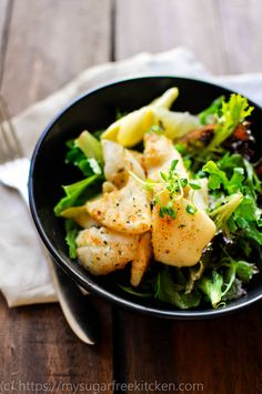 This healthy salt and pepper squid salad is the perfect meal to share with friends over a glass of wine