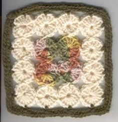 Free Crochet Patterns: Six Inch Granny/Afghan Square Motifs: Afghan Squares, Baby Blanket Squares