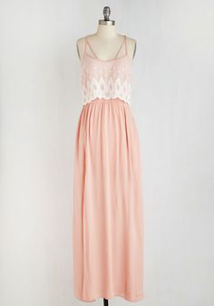 Blush to Conclusions Dress. Its immediately decided as you flutter by in this pink maxi dress - youre the most entrancing gal in the room! #blush #modcloth