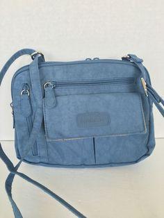 Multi Sac Organize Crossbody Denim Blue Designer Fashion Travel Business  #MultiSac #MessengerCrossBody