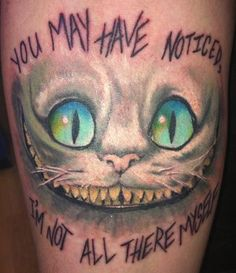 30 Best Cheshire Cat Smile Tattoo Designs Images Cat Tattoos