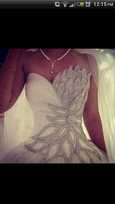 Sparkly princess wedding dress