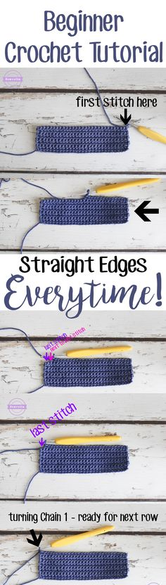 How to get straight edges every time | A crochet tutorial by Sewrella                                                                                                                                                                                 More