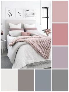 Awesome Small Bedroom Inspirations Color Schemes ☞❤ Top Small Bedroom Inspirations Color Schemes - Whether you introduce those pops of color with paint, bedding, or artwork, you'll find something to emulate in the gorgeous examples of colorful bedrooms Bedroom Colour Palette, Bedroom Color Schemes, Bedroom Colors, Home Decor Bedroom, Bedroom Ideas, Master Bedroom, Apartment Color Schemes, Pastel Colour Palette, Colors For Small Bedrooms