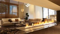 Due to advanced technology, intelligent fireplaces offer unlimited possibilities of arrangement along with simplicity of use. Equipped with an electronic system used for regulating the flame size, the fireplace can be operated with a remote control or smart device and integrated with Smart Home System, giving even more control possibilities. #planikafireplace #planikafires