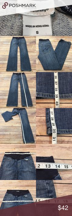Size Small Mimi Maternity Denim Bootcut Jeans • Measurements are in photos  • Material tag is in photos • Normal wash wear, no flaws • Below Belly  • Maternity Jeans • Distressed  A4/64  Thank you for shopping my closet! Mimi Maternity Jeans Boot Cut