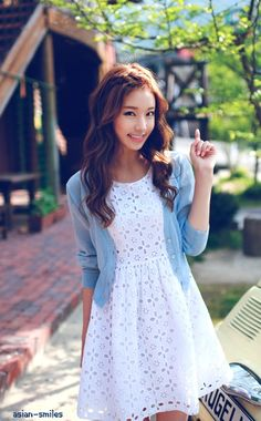 Super cute simple lace dress with a sweater perfect for that summer concert outside