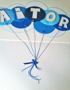 Nombre Aitor Oso Gris / Goma EVA / Craft Foam / A Mano / Handmade / Personalizable / Diferente. Visit www.gomaindociles...