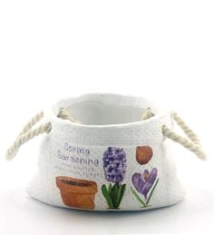 Importwala Ceramic Hanndpainted Sack Planter