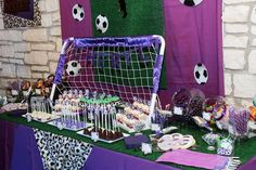 Who doesn't love sports, especially when you can have a soccer themed dessert table!
