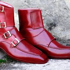 Buckle Ankle Boots, Leather Ankle Boots, Designer Boots, Designer Dresses, Dress With Boots, Dress Shoes, Leather Fashion, Bespoke, Shoe Boots
