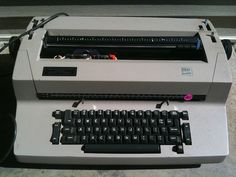 Learning to type on an IBM Selectric Typewriter.  It is still the BEST typewriter to type on!