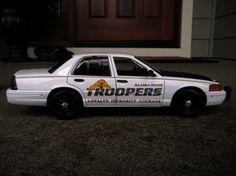 Alaska state police car