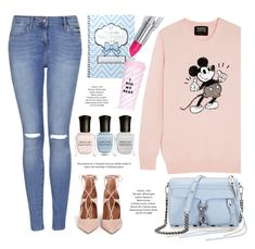 Girly Girl by monmondefou on Polyvore featuring polyvore, fashion, style, Topshop, Aquazzura, Deborah Lippmann, ban.do, Blue, disney and rose