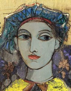"Saatchi Art Artist Minas Halaj; Collage, """"Portrat #4"""" #art"