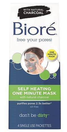 Bioré Self Heating One Minute Mask - heats on contact to open pores and remove pore clogging dirt and oil, then cools for refreshed, tingly smooth skin.