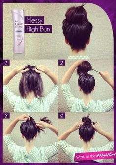 I never thought about teasing a bun