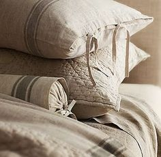 Use this technique for ends of bolster pillow case. Easy closure, yet keeps end looking sharp.