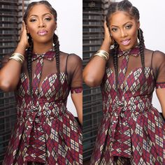 Not Boxer Braids: 20 Black Women Slaying the Chunky Cornrow/Goddess Braids Trend - Boxer Braids - Coins - Hot African Dresses For Women, African Print Dresses, African Print Fashion, Africa Fashion, African Attire, African Wear, African Fashion Dresses, Fashion Outfits, Fashion Hats