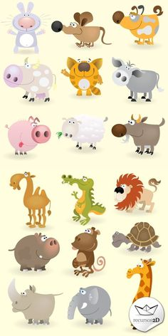Caricaturas de animales en vector (Cartoon Vector Animals) | Recursos 2D.com