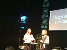 Lena Hammargren och Annika Hermele diskuterar samarbete mellan Novellix förlag och Bokcirklar.se under Bok & Bibliotek 2014.