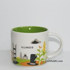 City Landscape, Starbucks Mugs, New Product, Illinois, Ceramics, Bottle, Tableware, Gifts, Collection