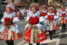 """Moravian Slovak """"Ride of Kings"""" Festival Folk Costume, Costumes, Bohemian Girls, Festivals Around The World, International Festival, Colourful Outfits, Colorful Clothes, World Cultures, Fashion History"""