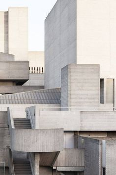 Architectuul in London: Concrete Royal National Theatre by Denys Lasdun #architecture #brutalism Photo via Thisispaper Magazine