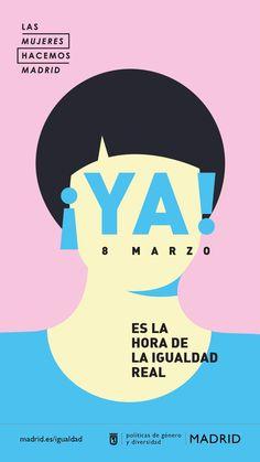 8M. International women's day Real Madrid, Graphic Prints, Graphic Design, Flat Illustration, Illustrations, Gender Roles, Creative Advertising, Ladies Day, Women Empowerment