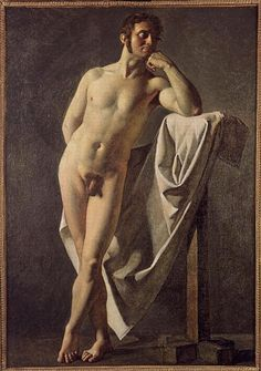 Male nude, 1801—Jean Auguste Dominique Ingres—Neoclassicism