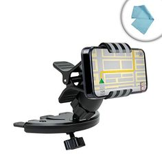 USA Gear CD Slot Mount Phone Holder with Cradleless Clip  Rotating Design  Easy Installation for Smartphones up to 4  Works with Apple iPhone 6s Plus  6s  6  More Devices >>> See this great product. (This is an affiliate link) #CellPhoneAccessories