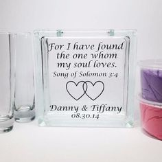 """Wedding Sand Ceremony Set """"For I have found the one whom my soul loves"""" Song of Solomon 3:4"""