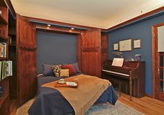 Music room with hide-away bed
