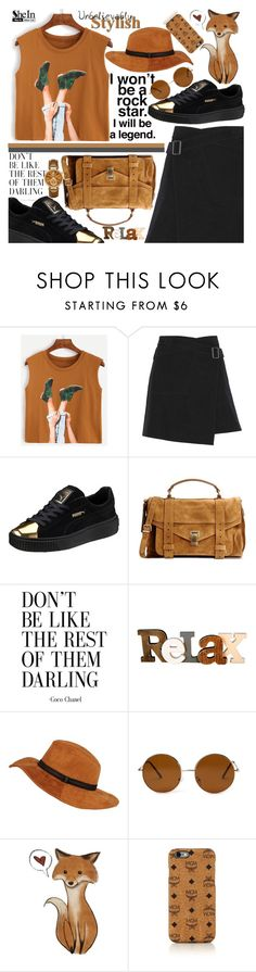 """""""Don't be like the rest of them,Darling ♥"""" by av-anul ❤ liked on Polyvore featuring Belstaff, Puma, Proenza Schouler, Forever 21, MCM, Michael Kors, shein and avanul"""