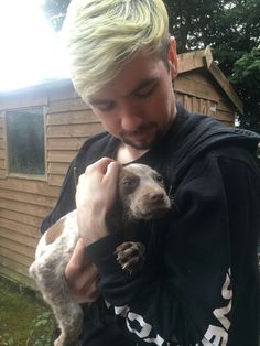 Jack with a cute pupper | Jacksepticeye
