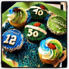Cupcakes Take The Cake: Seattle Seahawks Cupcakes