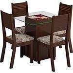 Sala de Jantar Camila Mesa com 4 Cadeiras Choco/Cravo - Viero Móveis 464,99