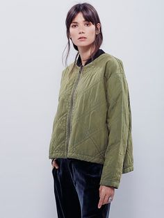 Free People Quilted Aviator Jacket at Free People Clothing Boutique