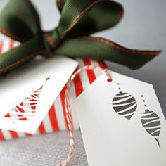 Lovely—Christmas cutout gift tag❣