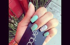 Cute acrylic nails... Great color and design for the Easter time!