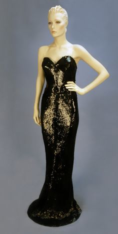 Balmain strapless sequined mermaid gown, 1950's