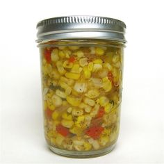 """Corn Relish (with jalapenos). Tried in '13. Uh-Maze-Balls. Will make 3x as much in '14. Note to self: a """"triple"""" batch (actually 6x what's written in the recipe) takes about 3 dozen medium corn."""