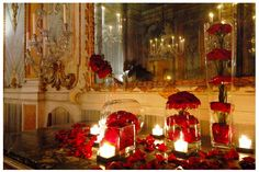 red rose decorations